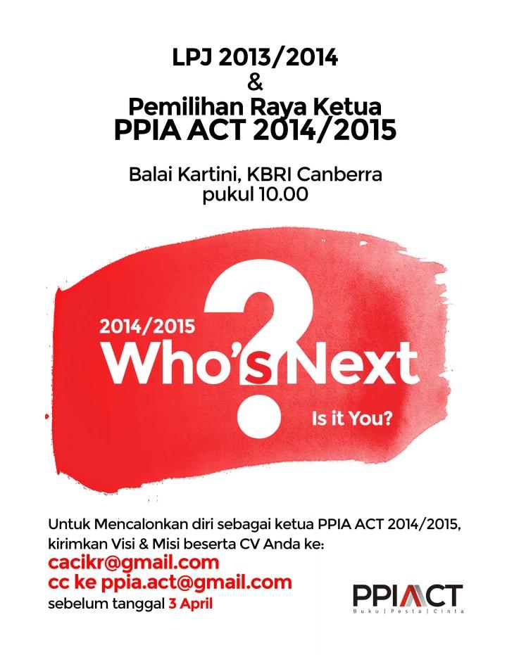 Pemilihan Raya Ketua PPIA ACT 2014/2015